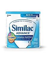 Similac Advance Infant Formula with Iron Powder 12.4-Ounces (352 g) (Case of 6) (Packaging May Vary) NewBorn Kid Child Childern Infant Baby