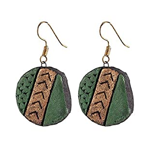 Artistri Green and bronze earrings