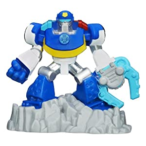 Transformers Playskool Heroes Rescue Bots Beam Box Chase The Police-Bot Game Pack