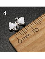 10pcs Metal Rhinestones Crystal 3D DIY Nail Art Tip Decoration (Color:#4)
