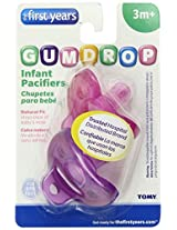 The First Years 2 Pack GumDrop Infant Pacifier, Pink/Purple