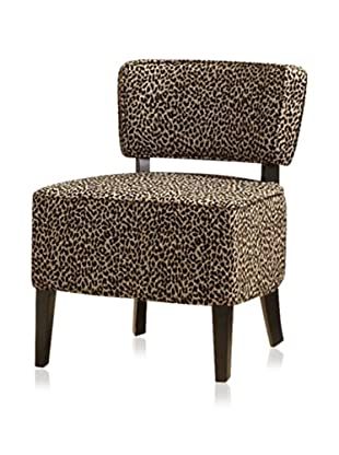 Armen Living Leopard Club Chair, Leopard