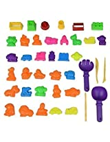 Sand Molding Sets-6 Small Sand Castle Molds,10 Marin Animal Molds,10 Animals Molds,9 Traffic Molds,2