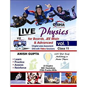 Live Physics - Vol. 1 for Boards, JEE Main & Advanced (Class 11) with Assessment & Video Solution DVD