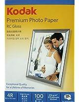 KODAK 270GSM 4X6 PREMIUM PHOTO PAPER RC GLOSS (100SHEETS)
