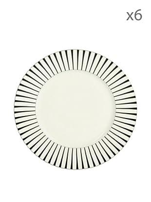 Delys by verceral Lote De 6 Plato Llano Porcelana Ø 27,5 cm