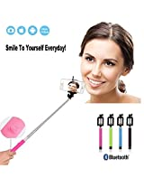 Ctronics Extendable Bluetooth Monopod Selfie Stick Self Portrait Pole for iPhone 6, 6 Plus 5 5S 5C 4S, Samsung Galaxy S5 S4 S3 Note 4 3 2 - Blue