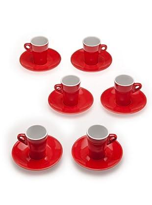 Tognana 6 Tazze Caffè Elegant (rosso)