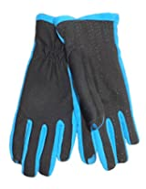 Isotoner Womens' SmarTouch Active Gloves (XS/SM, Black/Blue)