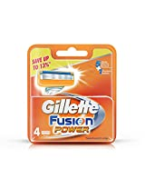 Gillette Fusion Power Blades - 4 Cartridges