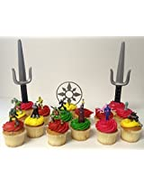 "Teenage Mutant Ninja Turtles 15 Piece Birthday Cupcake Topper Set Featuring 2"" to 3"" Cupcake Toppers"
