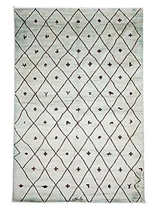 Darya Rugs Moroccan Oriental Rug, Blue, 6' x 8' 10