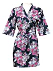 Other apparel - Floral Cotton Robe - Knee Length - Nightwear - Lounge wear - Night wear - Maternity Wear - F1