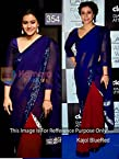 Kajol Georgette Embroidered Blue Bollywood Style Saree - PO195RC14