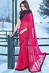 Dark pink Party Wear Saree - SASAHB10320