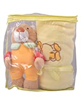 Mommas Baby India Blanket With Doll-Yellow