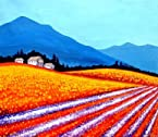 Fizdi - Handmade Painting - Flowers Valley - 23in X 20in