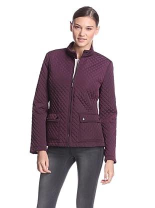 Calvin Klein Women's Quilted Jacket (Black/Plum)