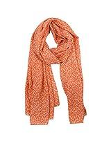 FUGEN Women's Silk Scarf (FF-2032, Orange)