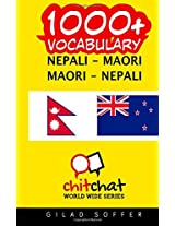 1000+ Nepali - Maori, Maori - Nepali Vocabulary