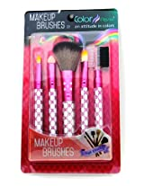 Color Fever Makeup Brush Set, Hot Pink, 200g