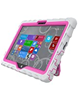 Gumdrop Cases Hideaway Rugged Case with Stand for Dell Venue 11 Tablet (White-Pink)