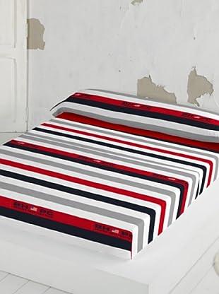Beverly Hills Polo Club Juego De Sábanas Davia Rojo/Gris/Crudo Cama 135 (220 x 270 + 1(45 x 150 cm))