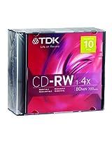 TDK 700MB 4x CD-RW (10-Pack)
