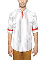 Peter England Men's Slim Fit Shirt (ESF31500086, White, 42)