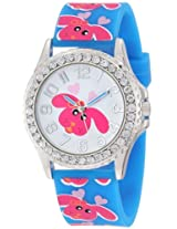 Frenzy Kids' FR809B Dog Print Blue Analog Children's Watch