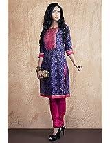 Kashish Women's Zari Kurta (9192869-Purple-Small)