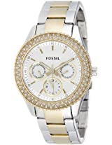 Fossil Stella Analog Silver Dial Women's Watch ES2944