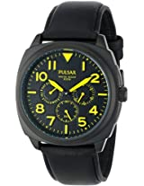 Pulsar Men's PP6077 Analog Display Japanese Quartz Black Watch