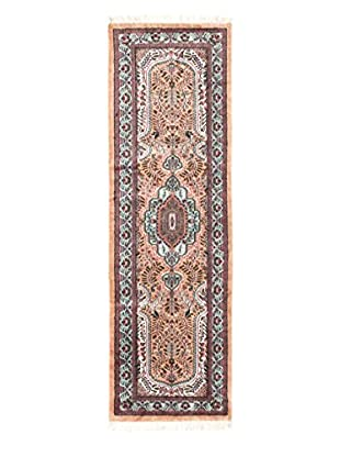 eCarpet Gallery One-of-a-Kind Hand-Knotted Kashmir Rug, Beige, 2' x 6' 5