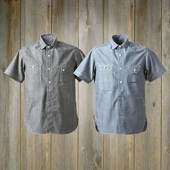 40s Organic Work Short Sleeve Shirt SN-08SS-06SS: White