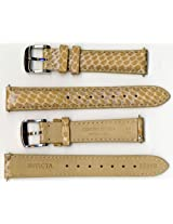 Invicta Genuine 16mm Tan Brown Cobra Leather Watch Strap IS248