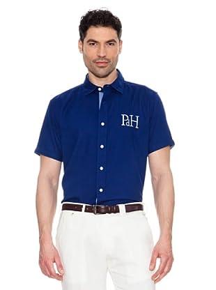 Pedro del Hierro Camisa Logo Grande (Azul)