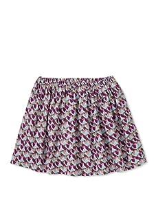 Stun Girl's Printed Full Skirt (Plum/Sky)