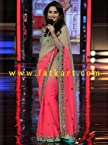Madhuri Dixit Designer Peach Shade Saree On Bigg Boss 7