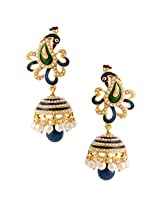 Traditional Indian Handmade Jewelry Set Glowing Jhumki Earring SetSAEA0943BL