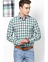 White Full Sleeves Casual Shirts