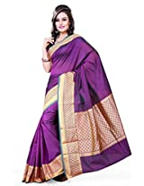 Asavari Cotton Banarasi Saree(A15Amh-Huk-Bha_Royal Purple)