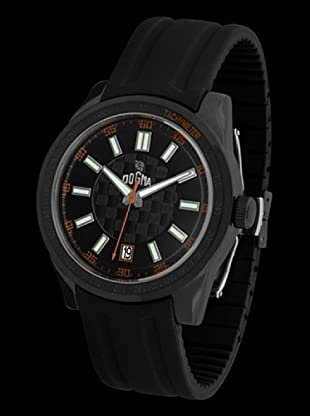 Dogma G7024 - Reloj de Caballero movimiento de quarzo con correa de caucho naranja