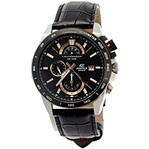 Casio Edifice Chronograph Black Dial Men's Watch - EFR-520L-1AVDF (EX067)