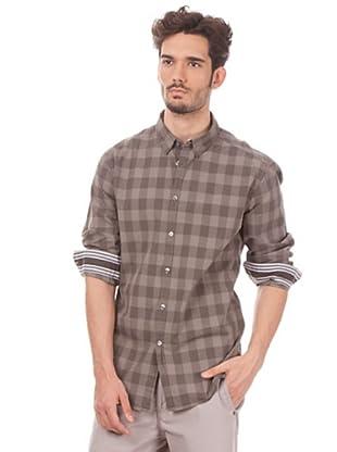 Esprit Camisa Cuadros (Topo / Beige)