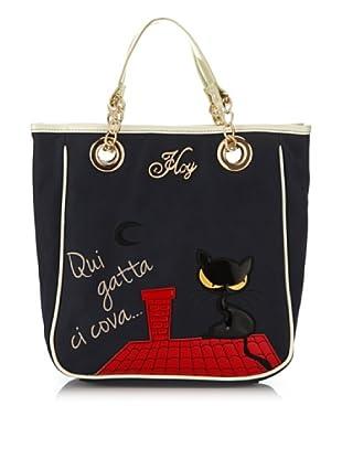 Hoy Collection Borsa Lucilla Black Cat (Blu)