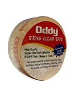 "Oddy Super Clear Stationery Tape 1"" Inch (Set of 12)"