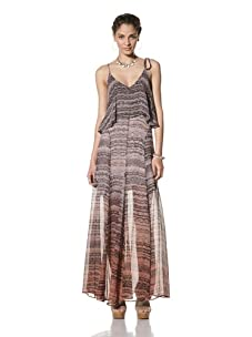 Gypsy 05 Women's Isla Silk Maxi-Dress with Overlay (Tangerine)