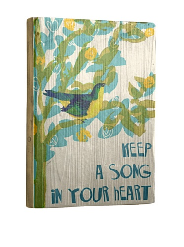 Artehouse Keep a Song Reclaimed Wood Sign, 20