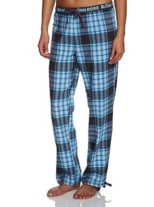 Björn Borg Pantalón De Pijama Technical Check (Azul / Marino)